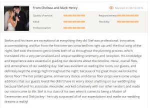 ottawa wedding dj testimonial