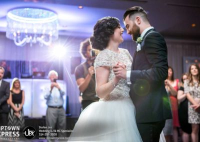 Epic First Dance surrounded by guests