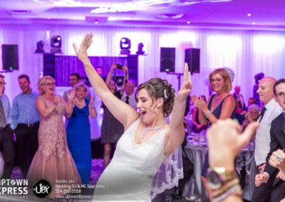 Bride bustin' a move on the dance floor!